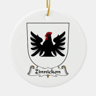 Escudo de la familia de Zinnickon Ornamento De Navidad