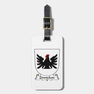 Escudo de la familia de Zinnickon Etiquetas De Equipaje
