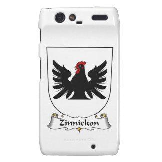 Escudo de la familia de Zinnickon Motorola Droid RAZR Fundas