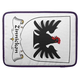 Escudo de la familia de Zinnickon Funda Para Macbooks