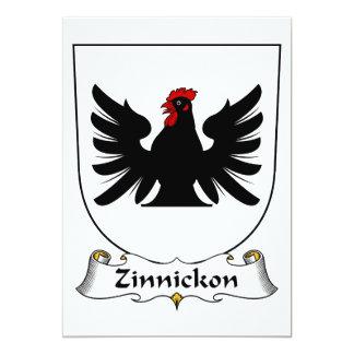 """Escudo de la familia de Zinnickon Invitación 5"""" X 7"""""""