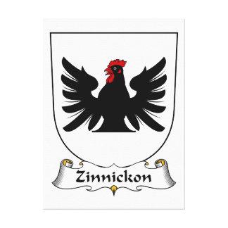 Escudo de la familia de Zinnickon Impresiones En Lona Estiradas