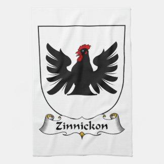 Escudo de la familia de Zinnickon Toalla