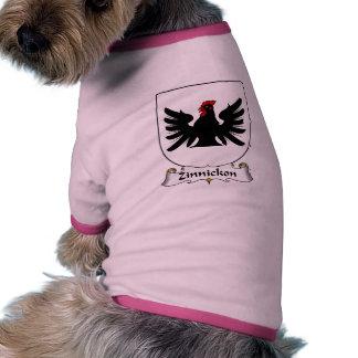 Escudo de la familia de Zinnickon Camisetas De Perrito