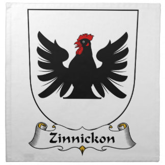 Escudo de la familia de Zinnickon Servilletas De Papel