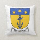 Escudo de la familia de Zinzendorf Almohada