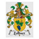 Escudo de la familia de Zollner Posters