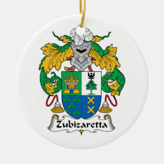 Escudo de la familia de Zubizaretta Adornos De Navidad