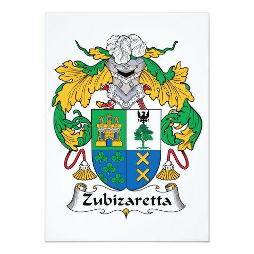 Escudo de la familia de Zubizaretta Invitacion Personal