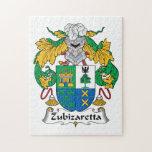 Escudo de la familia de Zubizaretta Puzzle Con Fotos