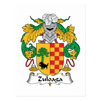 Escudo de la familia de Zuloaga Postal