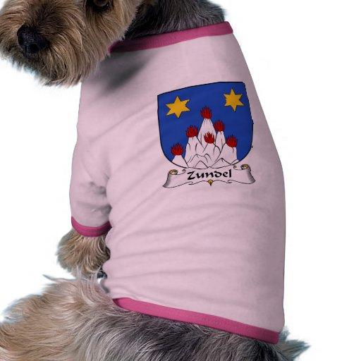 Escudo de la familia de Zundel Ropa Para Mascota