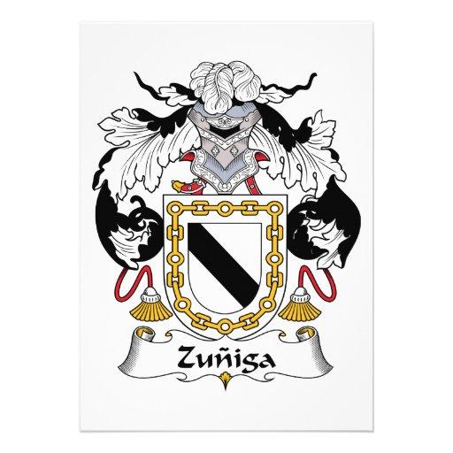 Escudo de la familia de Zuniga Comunicado Personalizado