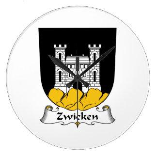 Escudo de la familia de Zwicken Relojes De Pared