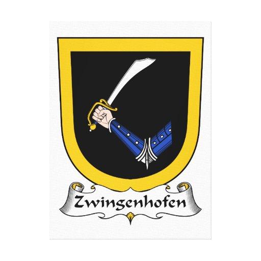 Escudo de la familia de Zwingenhofen Lona Estirada Galerias