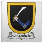 Escudo de la familia de Zwingenhofen Servilleta De Papel