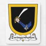 Escudo de la familia de Zwingenhofen Alfombrillas De Ratones