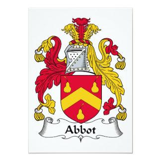 """Escudo de la familia del abad invitación 5"""" x 7"""""""