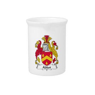 Escudo de la familia del abad jarras para bebida