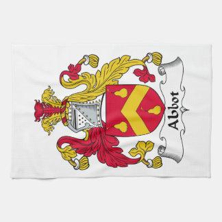 Escudo de la familia del abad toalla de mano