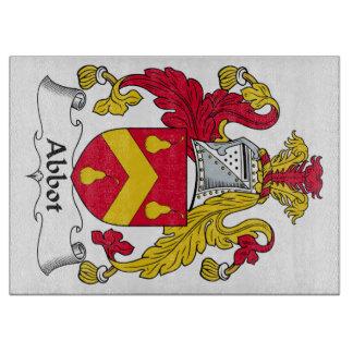 Escudo de la familia del abad tabla de cortar