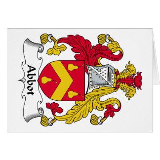 Escudo de la familia del abad tarjeta de felicitación