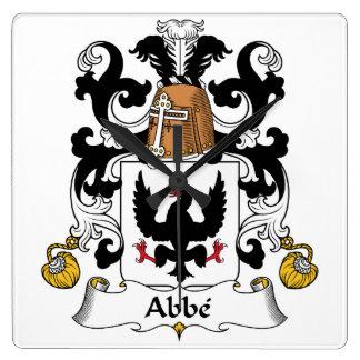 Escudo de la familia del Abbe Reloj Cuadrado