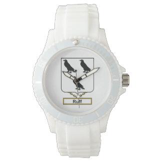 Escudo de la familia del acerino reloj de mano