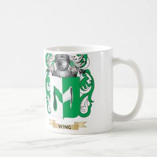 Escudo de la familia del ala escudo de armas tazas de café