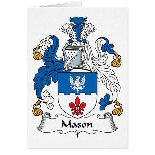 Escudo de la familia del albañil felicitaciones