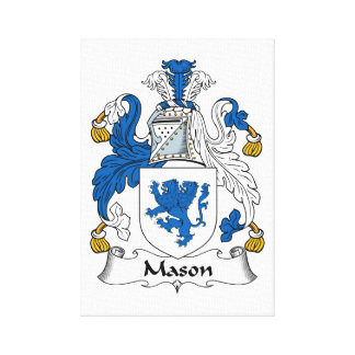 Escudo de la familia del albañil impresión en lienzo