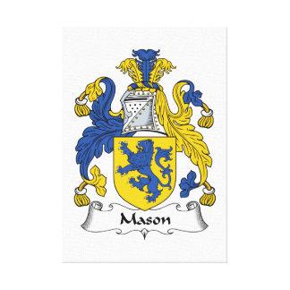 Escudo de la familia del albañil impresión en lona estirada