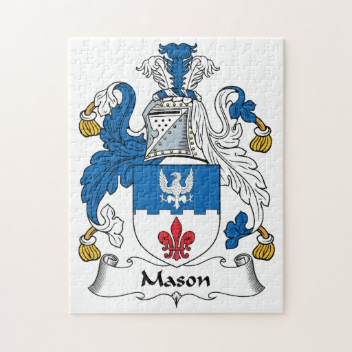 Escudo de la familia del albañil puzzle