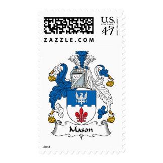 Escudo de la familia del albañil sello postal