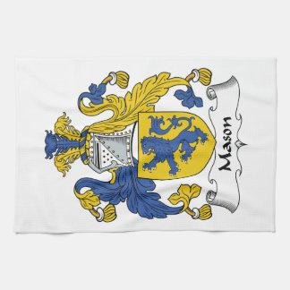 Escudo de la familia del albañil toalla de cocina