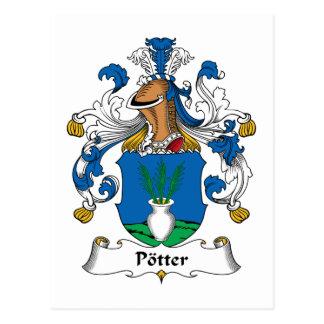 Escudo de la familia del alfarero postales