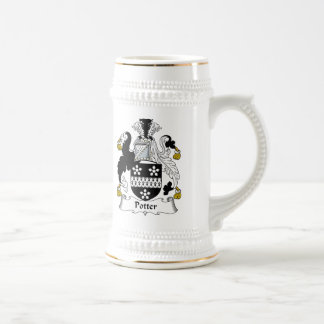 Escudo de la familia del alfarero jarra de cerveza