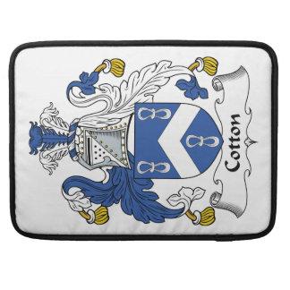 Escudo de la familia del algodón fundas macbook pro