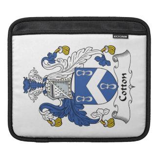 Escudo de la familia del algodón fundas para iPads