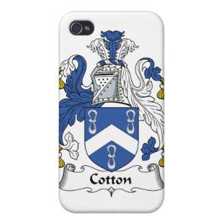 Escudo de la familia del algodón iPhone 4 carcasas