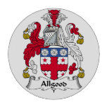 Escudo de la familia del Allgood Juego De Fichas De Póquer