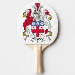 Escudo de la familia del Allgood Pala De Tenis De Mesa