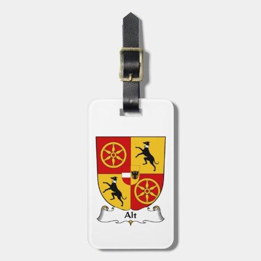Escudo de la familia del Alt Etiqueta De Maleta