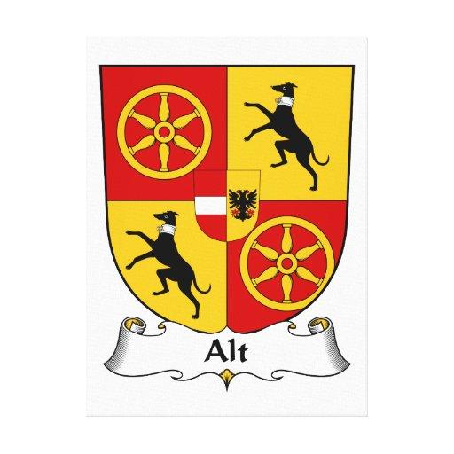 Escudo de la familia del Alt Lienzo Envuelto Para Galerías