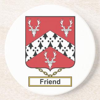 Escudo de la familia del amigo posavasos para bebidas