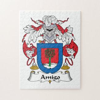 Escudo de la familia del amigo puzzle con fotos
