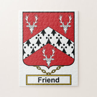 Escudo de la familia del amigo rompecabeza con fotos