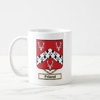 Escudo de la familia del amigo tazas