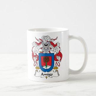 Escudo de la familia del amigo taza de café