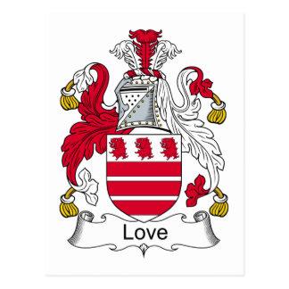Escudo de la familia del amor tarjetas postales